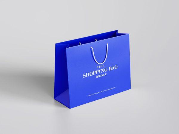 shopping bag mockup.